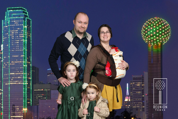 We visited the Reunion Tower in Dallas...and I thought this post should include one family pic.