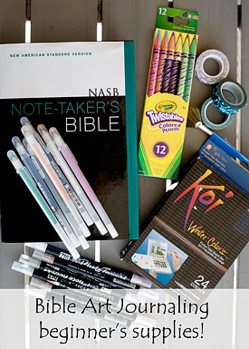 Bible Art Journaling for Beginners | Running With Spears #BibleJournaling #IllustratedFaith