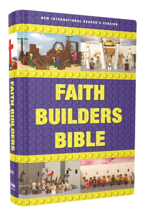 Faith Builders Bible Review- What an all girl family thought about a Children's Bible that incorporates Legos! | Running With Spears #HSReview #FaithBuilding #Bible #NIrV