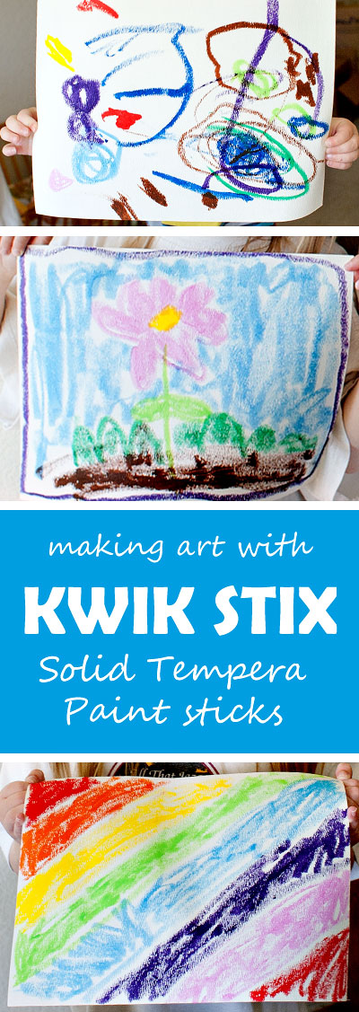 "Art made with Kwik Stix - a fun, mess free way to ""paint"" 