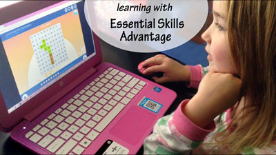 Learning with Essential Skills Advantage | A review by Running With Spears #onlineschool #homeschool