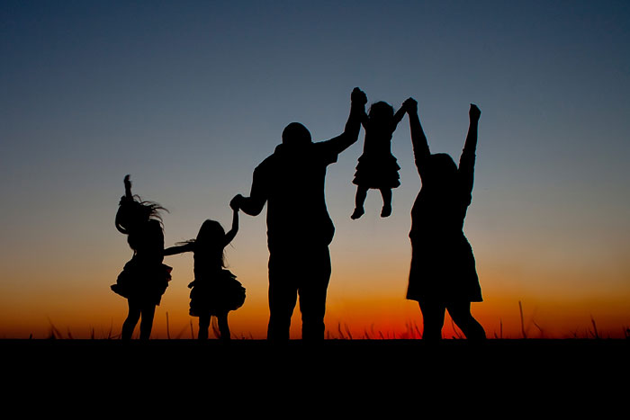 Family silhouette picture! | Running With Spears #photography