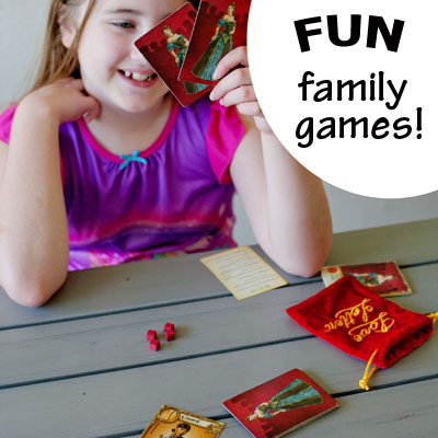 Love Letter - fun, simple, fairly quick strategy game fun for families, or as a little one-on-one bonding with one kid, since this game is fun with as few as 2 players! | Running With Spears #familyfun #games