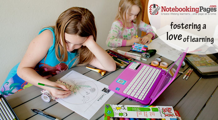 Using NotebookingPages.com for delight directed homeschooling! | Review by Running With Spears #notebooking #journaling