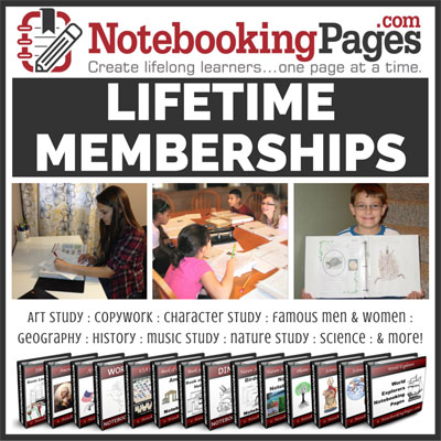NotebookingPages.com - homeschooling without the busy work! | Review by Running With Spears #notebooking #journaling