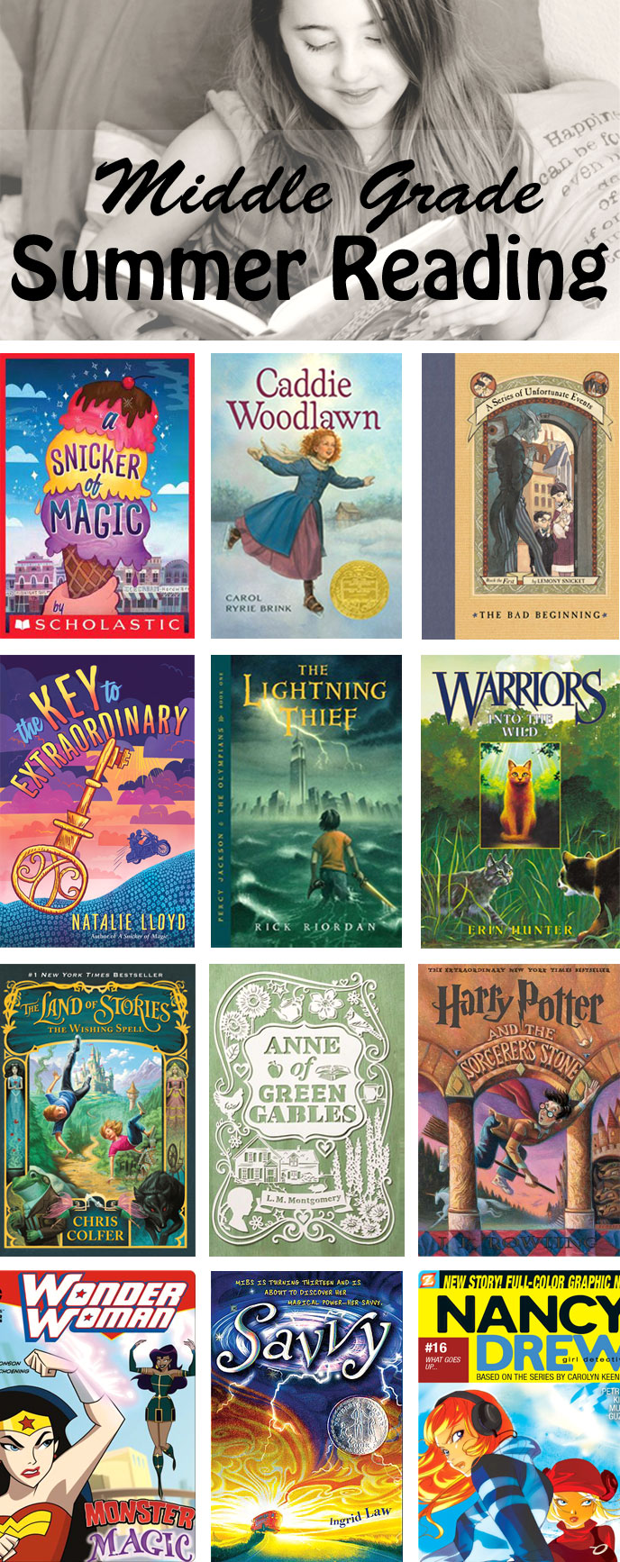 Summer Reading list for 8-12 year old girls! | Running With Spears #middlegrade #booklist