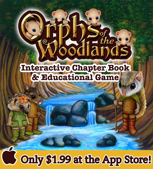 Orphs of the Woodlands at Tanglegate - Learning app so fun my kids beg to play! | Review by Running WIth Spears #readinggame