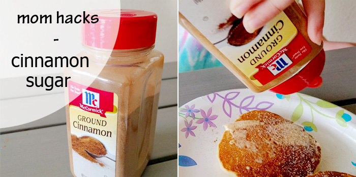 Mom hacks: cinnamon-sugar mix in your old cinnamon bottle | Running With Spears #parenthacks #parenting #lifehacks
