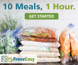 10 meals -1 hour | Freezer meal plan from MyFreezEasy | Review by Running With Spears #freezermeals #freezercooking