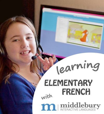My 4th grader loves learning Elementary French with Middlebury Interactive Languages | Review by Running With Spears #french
