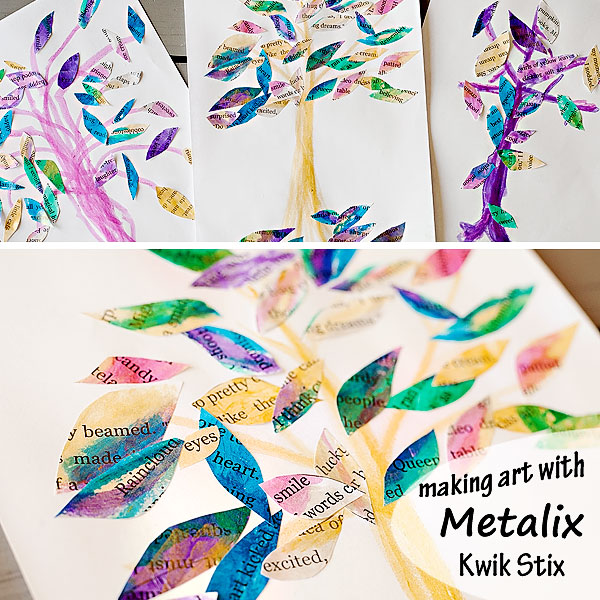 Sheer, shimmery, sparkly-gorgeous mess free art with Metalix Kwik Stix | Running With Spears #kidsartsupplies #giftideas
