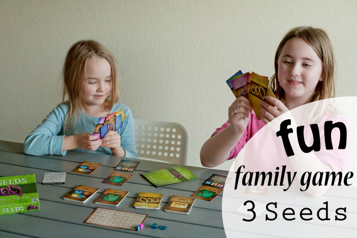 3 seeds card game - fun light strategy card game for ages 8 and up! | Running With Spears #familyfun #gamenight