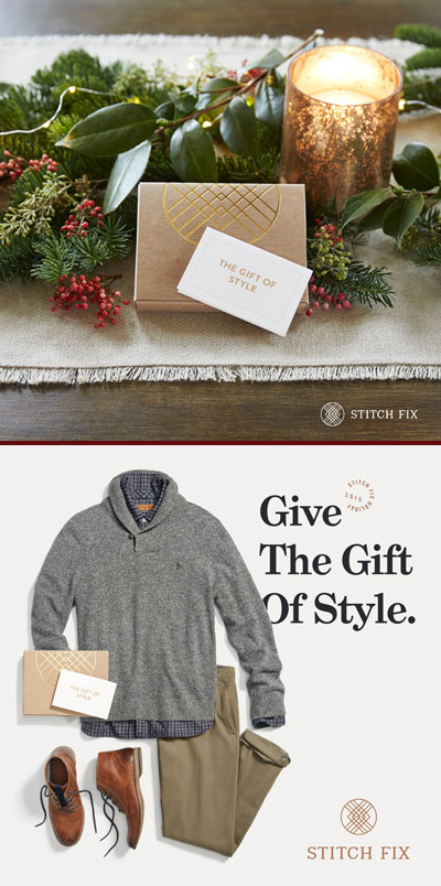 Last minute Christmas gift? Give a Stitch Fix gift card!