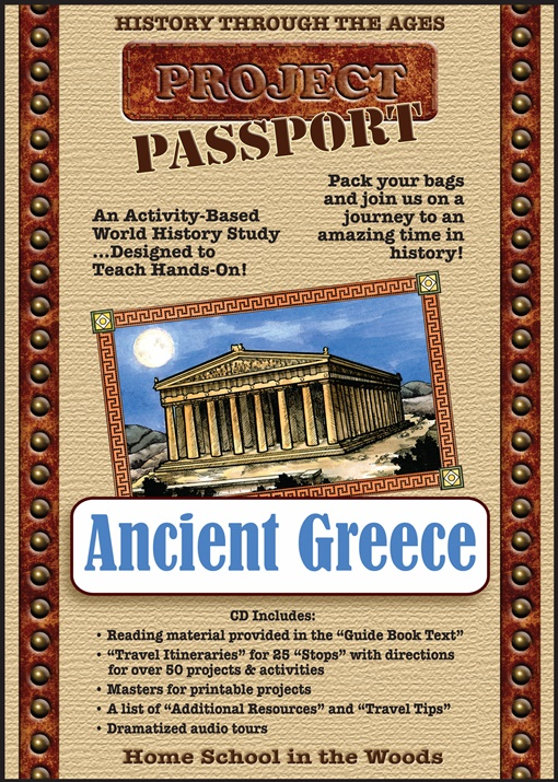 Project Passport Ancient Greece - A hands on history project | Review by Running With Spears #history #unitstudies #AncientCivilizations #lapbooking