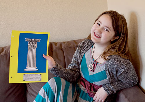 My 9 year old loves learning about Ancient Greece with Project Passport Ancient Greece - A hands on history project | Review by Running With Spears #history #unitstudies #AncientCivilizations #lapbooking @hsinthewoods