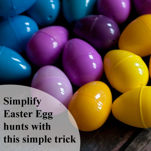 Genius! Color-code your Easter eggs - details at Running With Spears! #easter #egghunt #momhacks #parenthacks