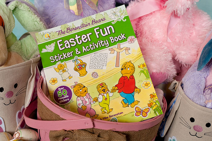 Easter Fun Sticker and Activity Book | Review of free copy, by Running With Spears #easter #berenstainbears #easterbasket #activitybook
