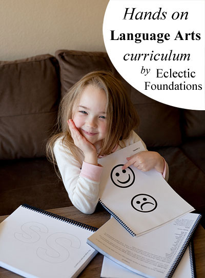 Hands-on, old fashioned language arts curriculum for beginning readers: Eclectic Foundations Language Arts Level A | Review by Running With Spears  #languagearts #eclecticeducation