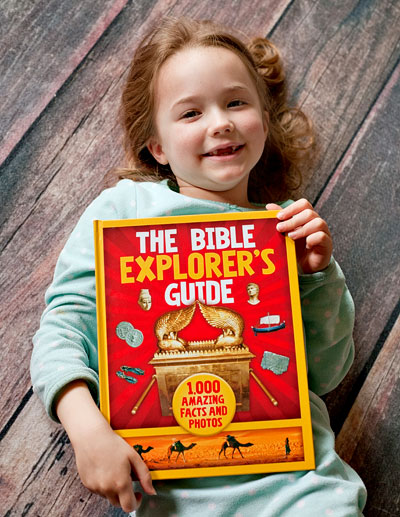 I'm so happy to have this lovely resource. It truly does help the Bible come alive, and gives us lots to talk about together as we peruse all the interesting pictures and learn new facts. Everyone in my family from my three year old to my husband has enjoyed the striking images and thought-provoking information in The Bible Explorer's Guide.  | Review of free copy by Running With Spears #zonderkidz #godsgirls #bibleadventure #homeschool
