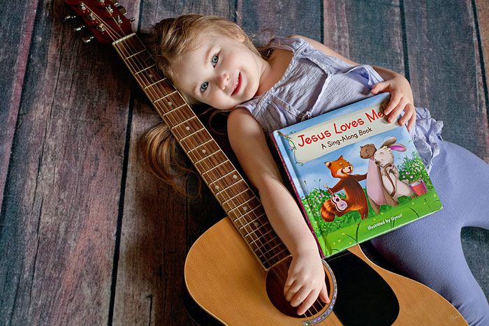 Jesus Loves Me! a Sing-Along Board Book for ages 2-6 - I LOVE the illustrations, such a sweet book, and precious verses of the song I never knew! | Review of free copy by Running With Spears #jesuslovesme #zonderkidz #boardbook