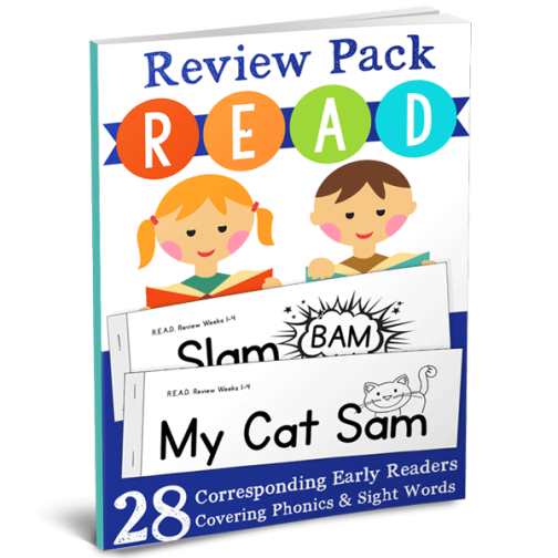 We love the the R.E.A.D. Review Pack from The Crafty Classroom- Printable Early Readers with great Phonics and Word Families review | Review by Running With Spears #CraftyClassroom #LearntoRead #HomeschoolCurriculum