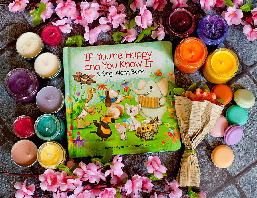 "This adorable board book illustrated by Barbara Szepesi Szucs has the words to the classic children's song, ""If You're Happy And You Know It"" paired with wonderfully whimsical pictures of animals playing together at a playground. My littles LOOVE it!  