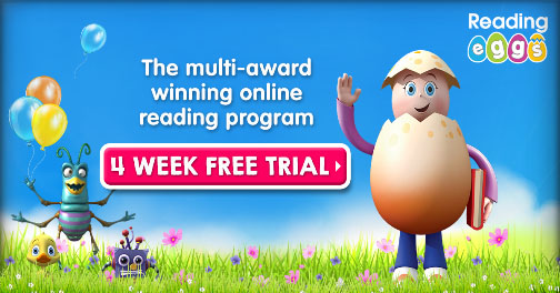 Four Week Free Trial of Reading Eggs - online reading program.