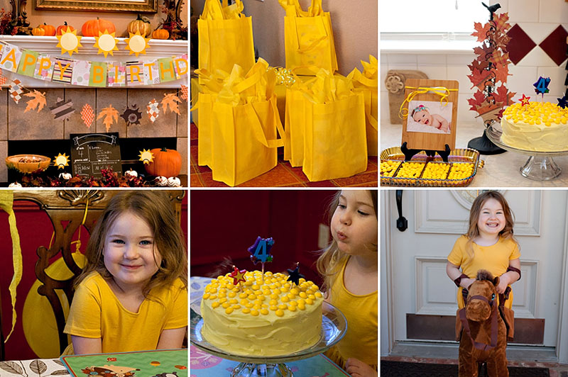 Yellow Sunshine Birthday Party | Running With Spears #kidsparty #yellowparty
